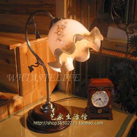 荷叶状台灯图片手绘图